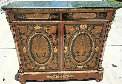 $1495 • Buy French Louis XV Style Dry Bar Cabinet Server Mounted Gilt Bronze W Marble Top