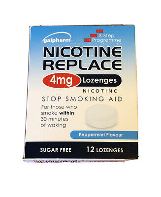 $ CDN3.40 • Buy Nicotine Replace Lozenges 4mg (12 Pack) Galpharm Peppermint Flavour Stop Smoking