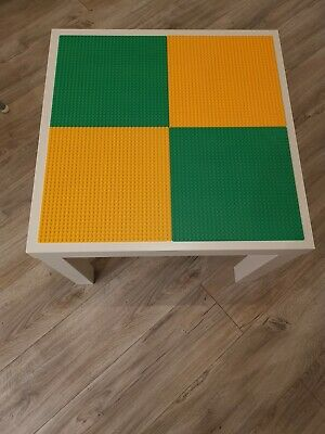 Lego Table Brand New Yellow And Green Base Plate Organised Lego Play Set Up • 33£