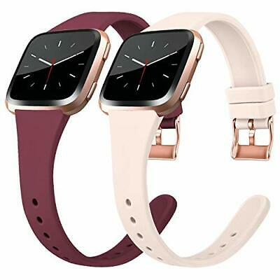 $ CDN14 • Buy Silicone Thin Bands For Fitbit Versa 2/Versa/ Lite/ SE Wristbands Metal Buckle