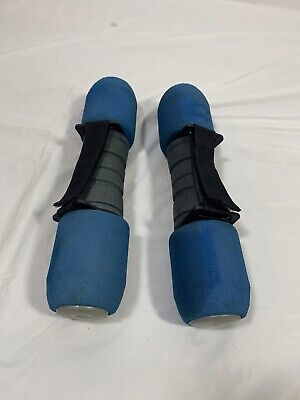 $ CDN33.50 • Buy GO Walking Blue Cushioned 5 Lb EACH Hand Weights Dumbbells Set W/ Straps