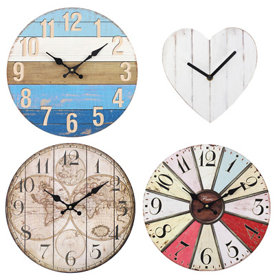 Silent Wall Clocks, Nautical Beach Style,Vintage,Wall Art, Home Decor, Home Gift • 12.99£