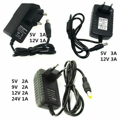 $ CDN3.64 • Buy Power Supply Charger Adapter DC 5V 9V 12V 24V 1A 2A 3A Adaptor DC 5 9 12V  Volt