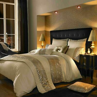 Kylie Minogue Leopard Ivory Super King Size Set Duvet Cover, Throw, Cushions • 335£