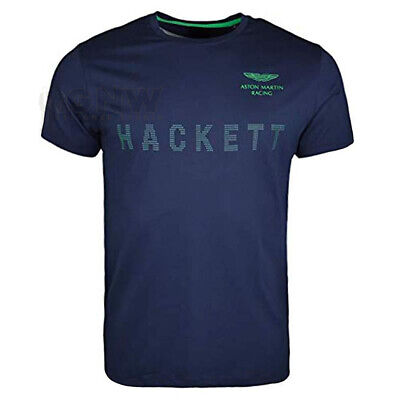HACKETT MEN ASTON MARTIN RACING DOT T SHIRT/TEE NAVY/ RED Size: MEDIUM Was £50 • 24.99£