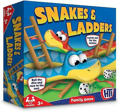 £5.95 • Buy Family Kids Snakes And Ladders Board Game Traditional Children Games Play Set