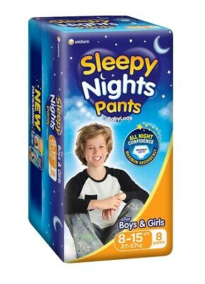 AU10.95 • Buy BabyLove Sleepy Nights Pants 8 To 15 Years (27 To 57kg) X 8 (Limit 2 Per Order)