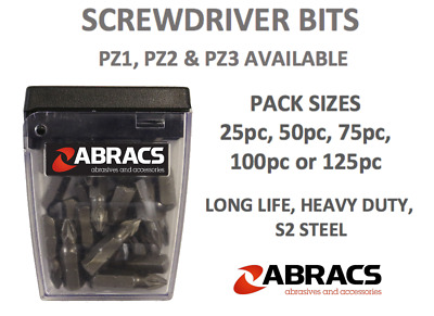 Screwdriver Bits X 25 Pz1 Pz2 Pz3 Ph2 Pozi 1 2 3 Head 25mm Driver Bit 25 Pack • 5.99£
