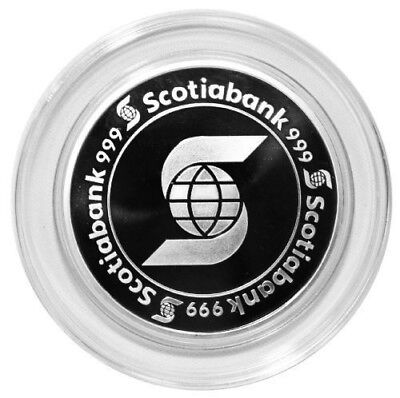 $ CDN298 • Buy One 5 Oz Scotiabank Silver Round **In Capsule** NEW OLD STOCK- STUNNING!