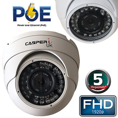 5MP HD Wired PoE IP Camera 1920P Waterproof Outdoor IR Speed Dome CCTV Security • 48.16£