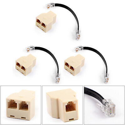 AU13.23 • Buy 3Pcs Microphone 1 To 2 Splitter Adapter For Yaesu Car Radio FT-8800R, FT-7900R B