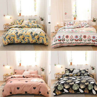 £24.45 • Buy Printed Soft Duvet Cover Quilt Bedding Sets Pillowcase Twin Queen King All Size