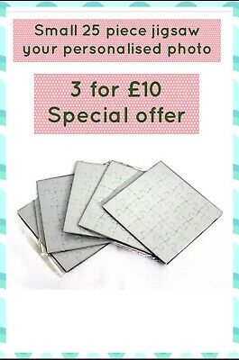 PERSONALISED JIGSAW PUZZLE 25 PIECES Your Photo Picture Custom Printed GIFT  • 3.99£