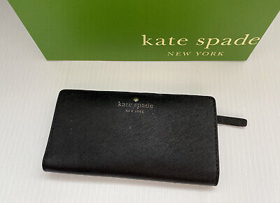 $ CDN34.27 • Buy Kate Spade NY Black Saffiano Leather Slim Snap Wallet
