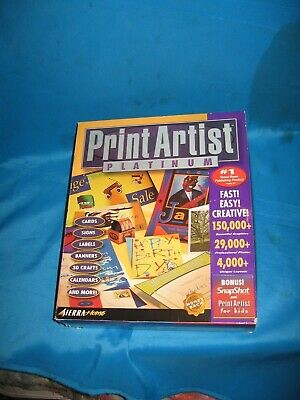 Print Artist Platinum: Never Opened  Except The Front To Take Pictures • 10.64£