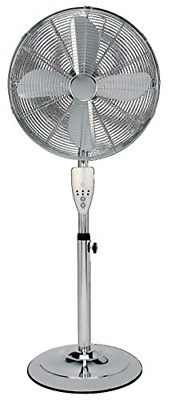 Aironic TM 16 Inch Chrome Pedestal Floor Fan 3 Speed With Remote Control • 76.22£