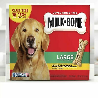 $21.99 • Buy Milk-Bone Dog Biscuits Large 15 Lbs Packed With Vitamins Minerals Freshen Breath