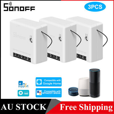 AU37.87 • Buy Sonoff MINI DIY 2 Way Smart Switch Small Wifi Switch For Alexa Google Home H9D1