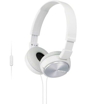 Sony Headphones MDR-ZX310AP Foldable Stereo Headset Earphones-White. With Mic. • 13.99£