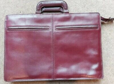 """Tan/mahogany Leather 16"""" Californian Laptop Document Bag, Simple, Zipped Section • 39£"""