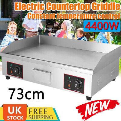 Electric Griddle Hotplate Flat Chip Grill Bacon Egg Fryer Commercial 1500W UK • 62.98£