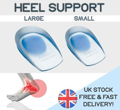 HEEL SUPPORT SHOCK-ABSORB Silicone Gel SHOE INSERT Insoles SPUR PAIN TENDINITIS+ • 3.89£