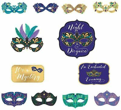 £8.48 • Buy A Night In Disguise Masquerade Mask Mardi Gras Party Hanging Decoration Cutouts