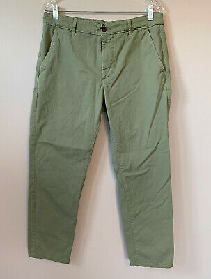 $ CDN30.82 • Buy AG Adriano Goldschmied Mens Sz 34R Solid Green The Marshall Slim Trouser Pants