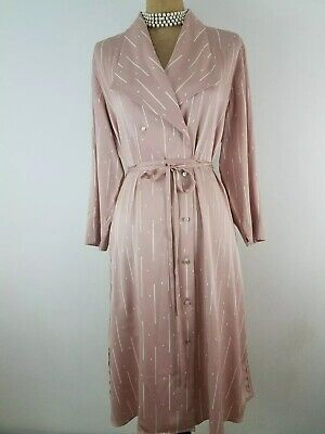 $ CDN134.12 • Buy NWT MM LaFleur Suzanne Trench Dress Large Morse Code Pink Blush Silk 3/4 Sleeve