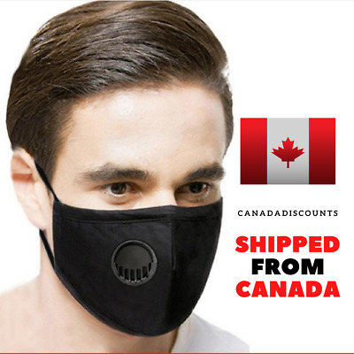 $ CDN17.75 • Buy Reusable Fabric Face Mask Unisex With 2 FREE PM2.5 Activated Carbon Filter