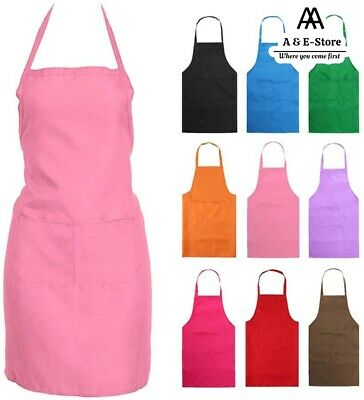 £3.45 • Buy Catering Plain Apron Cooking BBQ Women Tabard Apron Chefs Baking Professional UK