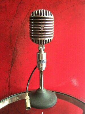 Vintage 1940's Shure Brothers 556 Fatboy Microphone Elvis Deco W 55 55S WORKS • 357.03£