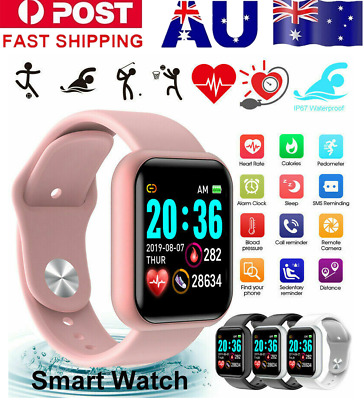 AU19.99 • Buy Bluetooth Smart Watch Wrist Touch Screen Heart Rate For Android IOS Waterproof