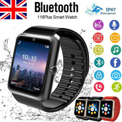 £11.79 • Buy Bluetooth Smartwatch Touch Screen Wrist Watch With SIM Card Slot For IOS Android
