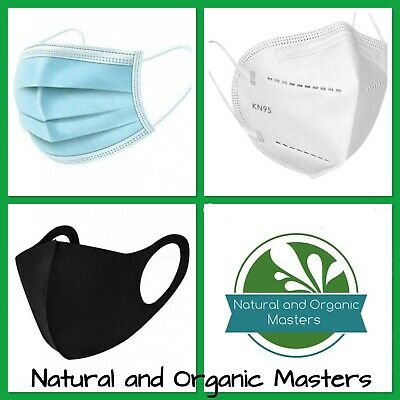 AU6.95 • Buy ✅ KN95 Filter Masks- Blue Disposable 3 Layer Face Mask - Black Washable Reusable