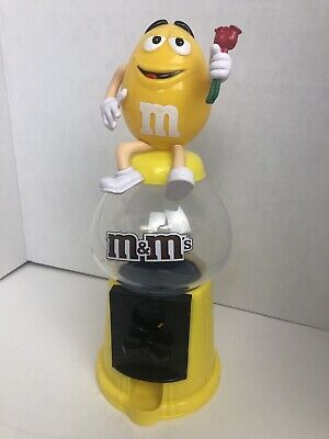 $50.86 • Buy M&M'S / M&M Spender / M&M Candy Dispenser Coin Bank Yellow Holding Roses Rare