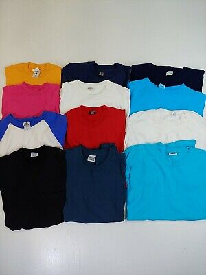 $ CDN119.99 • Buy Vintage T-shirt Lot Of 12 Wholesale Blanks Pocket Single Stitch Assorted Colours