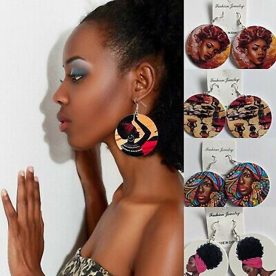 African Wooden Earrings Ethnic Tribal Different Options • 2.99£