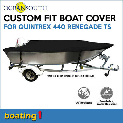 AU272.04 • Buy Oceansouth Custom Fit Boat Cover For Quintrex 440 Renegade TS Open Boat