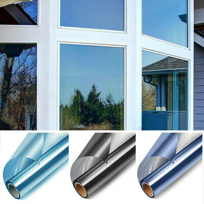 Privacy Window Film Self Adhesive Reflective Solar One Way Mirror Glass Stickers • 3.74£