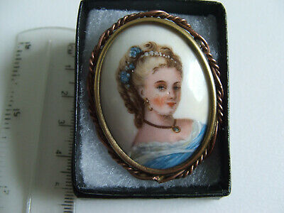 £25.50 • Buy Limoges Vintage Brooch Pin Cameo Blond Lady