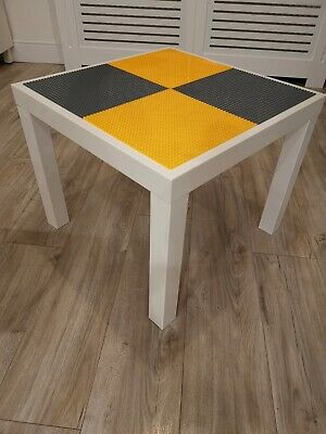 Lego Table Brand New Yellow And Grey Base Plate Organised Lego Play Set Up • 33£