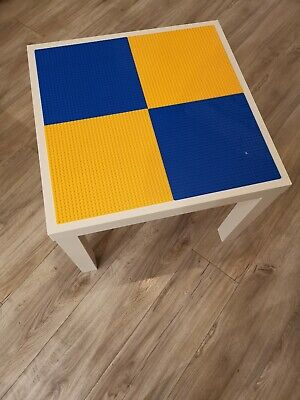 Lego Table Brand New Blue And Yellow Base Plate Organised Lego Play Set Up • 33£