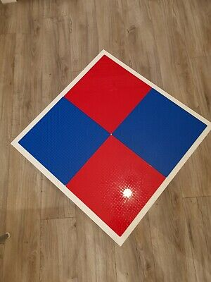 Lego Table Brand New Blue And Red Base Plate Organised Lego Play Set Up • 33£