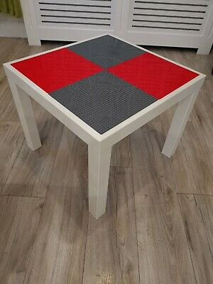 Lego Table Brand New Red And Grey Base Plate Organised Lego Play Set Up • 33£