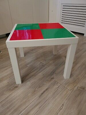 Lego Table Brand New Red And Green Base Plate Organised Lego Play Set Up • 33£