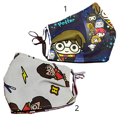 AU13.95 • Buy Harry Potter 5 Sizes Face Mask For Kids Washable Free Filter Reusable Super Hero