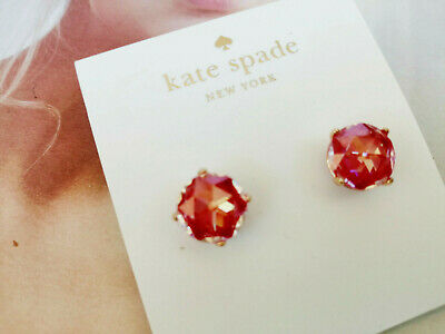 $ CDN32.65 • Buy Kate Spade Bright Ideas Prism Crystals Studs Earrings Gold Tone/Red