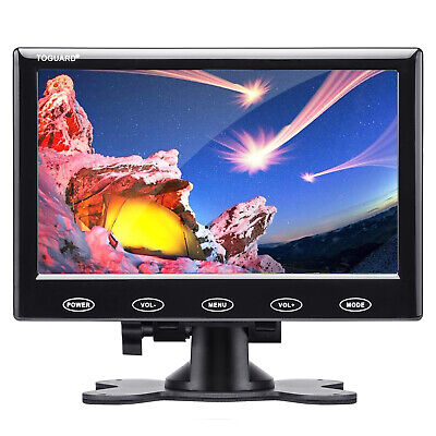 AU74.43 • Buy TOGUARD 7  Monitor Display Security USB Power LCD Screen AV/VGA/HDMI W/ Speaker