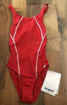 Olympian Red Swimming Costume Size 8 BNWL • 12£